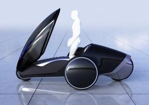 Одноместный автомобиль на трех колесах от Тойота